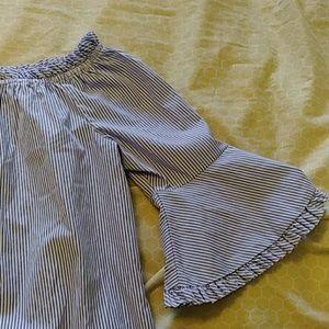 Striped off the shoulder summer dress